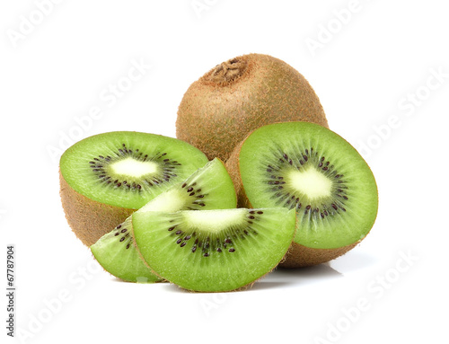 Fotografie, Tablou  Kiwi fruits slice on white background