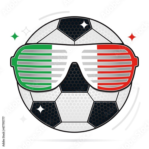 soccer party, italy Poster