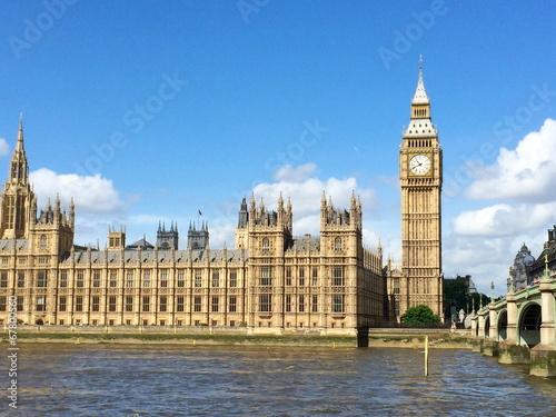 Fotografia  Big Ben i Houses of Parliament w Londynie, Wielka Brytania.
