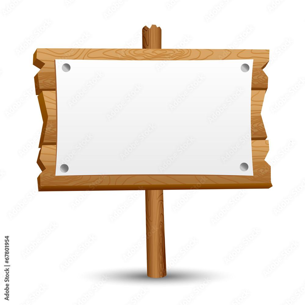 Fototapeta Wooden blank sign