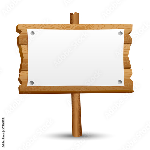 Obraz Wooden blank sign - fototapety do salonu