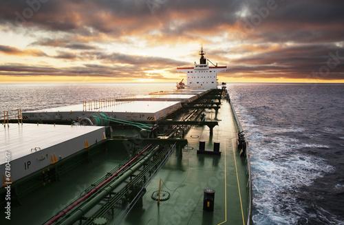 Fotografia  Trwa statek towarowy