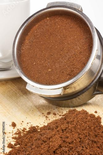 Wall Murals Chocolate prepare espresso