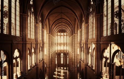 Fotografie, Obraz  Chiesa cattedrale gotica