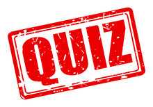 QUIZ Red Stamp Text