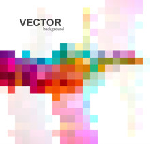 Abstract Beautiful Colorful Mosaic Background Vector