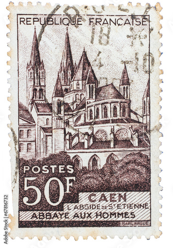 Fotografia  Old French stamp