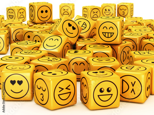 Fotografia  Smileys on boxes