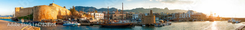 Foto op Aluminium Cyprus Kyrenia harbour and Medieval castle, Cyprus.