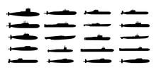 Submarines Black Silhouettes S...