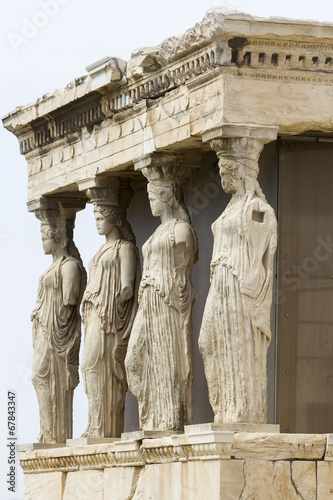 Tuinposter Athene The ancient Porch of Caryatides in Acropolis, Athens, Greece