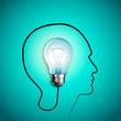 Human head thinking a new idea. Creative Idea. vector