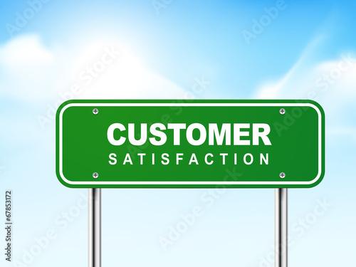 Fotografía  3d customer satisfaction road sign