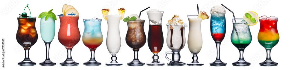 Fotografie, Obraz  Set of summer cocktails