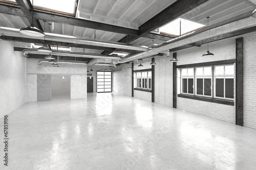 Poster Stadion Modern office atrium or hall interior