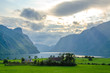 Village at Fjord in Norway