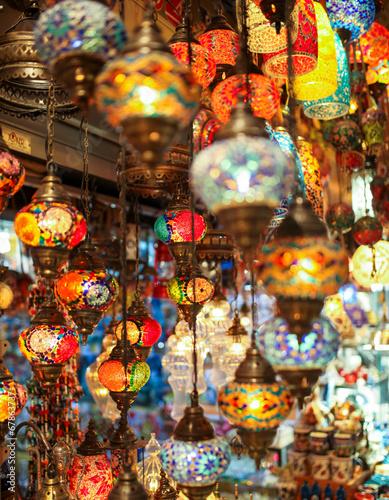 Fotobehang Midden Oosten Turkish multicolor lamps