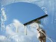 Leinwanddruck Bild - Clear blue sky