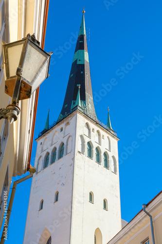 Photo  St. Olaf's church. Tallinn. Estonia