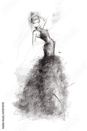 Fototapeta fashion illustration obraz