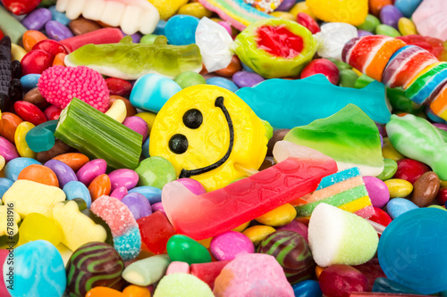 Aluminium Prints Candy smiley sweets