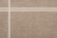 Natural Linen Textile With Lac...