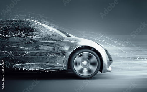 speeding abstract car