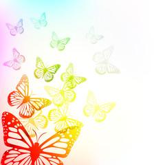 Panel Szklany Na drzwi motyle tło wektor