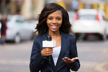 African Female News Reporter I...