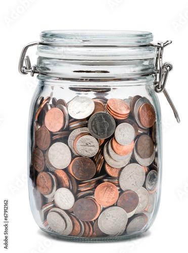 Fényképezés  Mason Jar of Coins