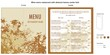 Wine menu restaurant with abstract leaves center fold