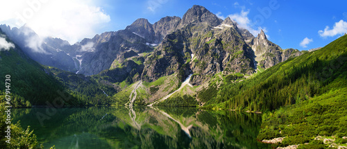 Beautiful scenery of Tatra mountains and Eye of the Sea