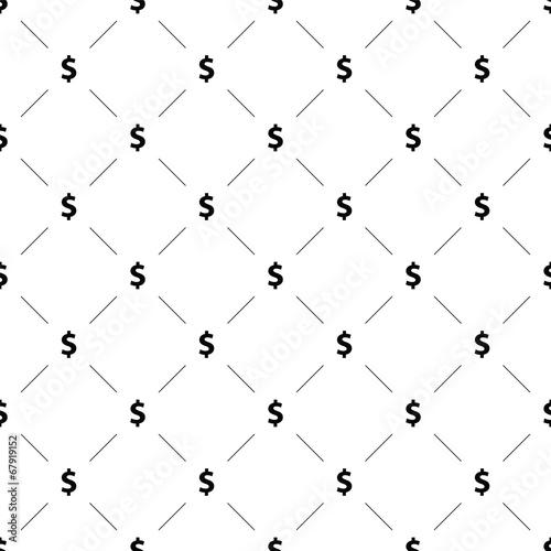 Valokuva  Vector seamless pattern, money