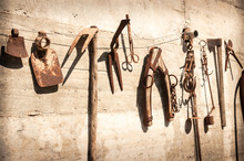 Old Rustic Decorative Agricultural Tools
