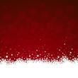 Weihnachten Hintergrund in rot mit Schnee und Sternen