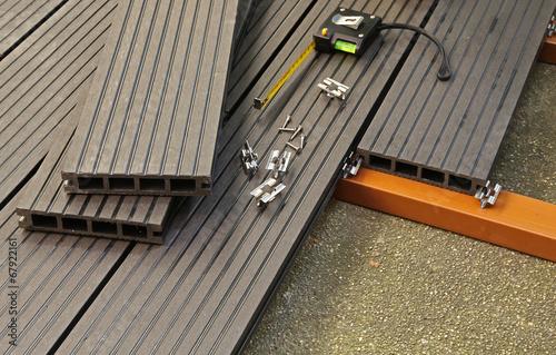 Photographie  terrasse en plancher composite
