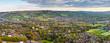 Leinwanddruck Bild - Idyllic rural, aerial view, Cheltenham UK