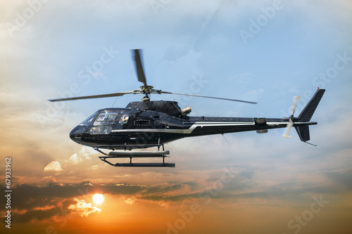 Foto op Canvas Helicopter Helicopter for sightseeing