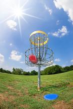 Disc Golf Basket In A Park On ...