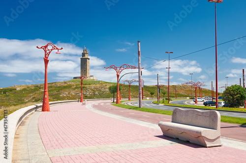 Tower of Hercules in A Coruna. Spain