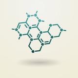 Simple molecule icon