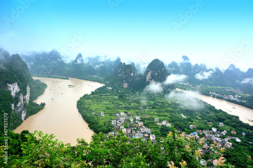 landscape in yangshuo,guilin,china