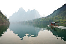 Landscape Of Li River In Winter, Guilin, China