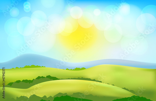 vectorcountry side landscape