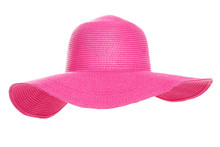 Summer Beach Hat Isolated On White Background