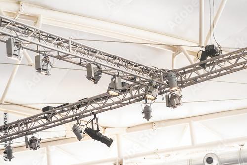 Fotografie, Obraz  bright lighting rig inside a large marquee venue