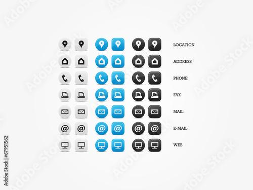 Fotografia, Obraz  Multipurpose Business Card Icon Set