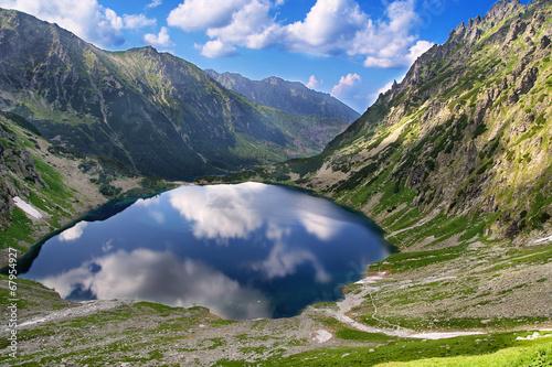 Fototapeta Tatra mountains and Eye of the Sea in Poland obraz