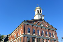 Faneuil Hall Is A Georgian Style Building At Downtowm Boston