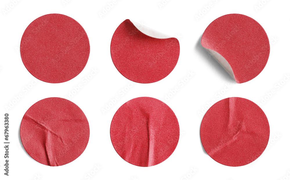 Fototapety, obrazy: Red Round Stickers